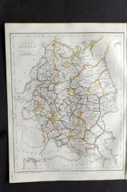Barclay C1850 Antique Map. Russia